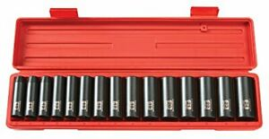 Tekton 1 2 Inch Drive Deep 6 Point Impact Socket Set 15 Piece 10 24 Mm 4883