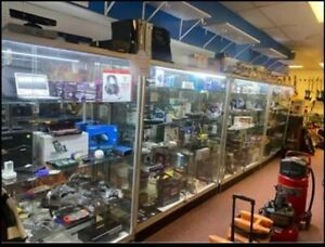 Store Showcases display Cases 70x71 5x17 W Custom Lights 4 Shelves Pick Up
