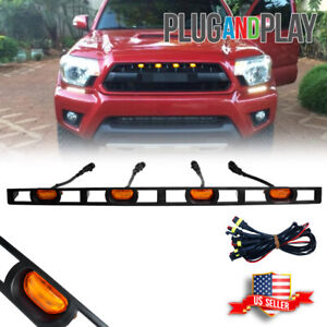 For 2012 15 Toyota Tacoma Front Hood Grille Amber Led Lights Assy W Wire Harness