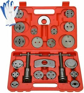 24pc Universal Disc Brake Caliper Rewind Brake Piston Wind Back Tool Set W Glove