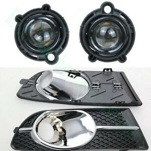 4x For Buick Verano Excelle Gt 2012 15 Front Left Right Fog Light Cover Withbulb