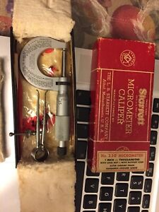 Starrett Micrometer Caliper With Original Box Vintage No 230 With Extra