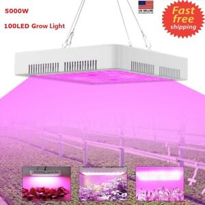 5000w Led Grow Light Full Spectrum For Indoor Hydroponic Plant Flower Veg W fan