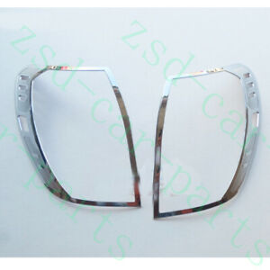 2xfor Chevrolet Captiva 2008 15 Chrome Silvery Rear Lh rh Taillight Cover Frames