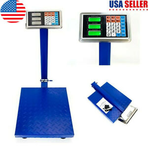 300kg 661lbs Lcd Digital Personal Scale Floor Postal Platform Scale Weight Tools