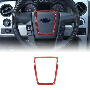 Steering Wheel Trim Cover Decal Moulding For Ford F150 2009 2014 Accessories