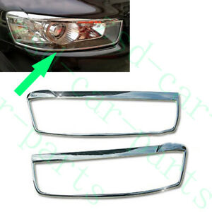 2x For Chevrolet Captiva 2011 15 Chrome Silvery Front Lh rh Headlight Cover Trim