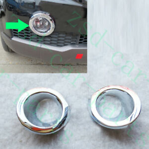 2x For Chevrolet Captiva 2008 2010 Abs Silvery Front Left right Fog Light Covers