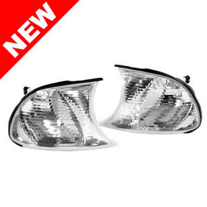 02 03 Bmw E46 2dr Coupe 02 06 M3 Crystal Clear Corner Lights Screw In Type