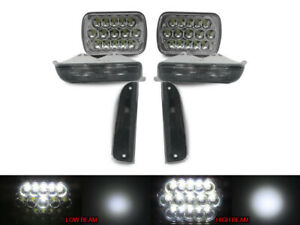 Full Led Hi low 7x6 Headlight Smoke Corner signal For 1997 01 Jeep Cherokee Xj