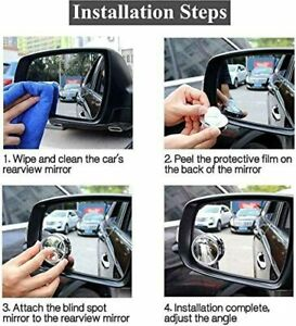 2 Pcs Rear Side View Blind Spot 2 Mirror Universal Car Auto Wide Angle Convex