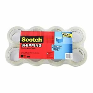 Scotch Heavy Duty Shipping Packaging Tape 1 88 Inches X 54 6 Yards 8 Rolls