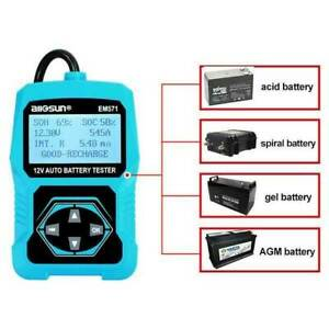 12v Handheld Digital Battery Tester For Automotive Battery Life Analyzer New