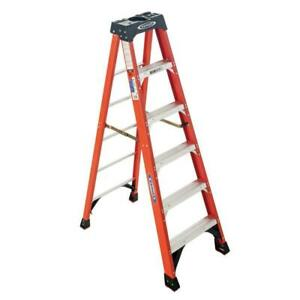 6 Ft Fiberglass Step Ladder With 300 Lb Load Capacity Type Ia Duty Rating