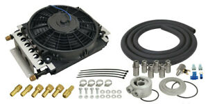 Derale Electra cool Engine Oil Cooler Kit 8an 15500