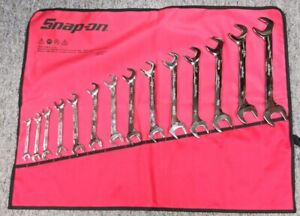 Snap On Vs814a 14 Pc Sae Four Way Angle Head Open End Wrench Set 3 8 1 1 4