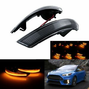 Amber Dynamic Led Wing Mirror Indicator Turn Signal Light Fit Ford Focus Mondeo