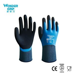 One Pair Wonder Grip Safety Fully Immersed Waterproof Cold proof Work Gloves