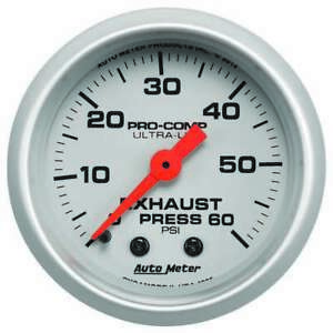 Autometer Exhaust Pressure Gauge 0 60psi Ultra lite 4325