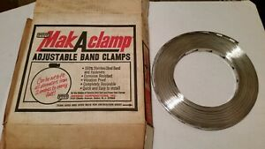 100 Roll Stainless Steel Breeze Make A Clamp 4001 Mak A Clamp Nos Nib