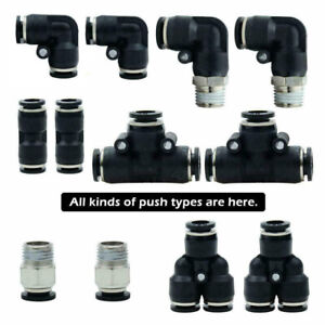 Push To Connect Fitting Pneumatic Air Quick Assortment Kit