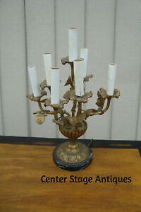 60716 Candelabra Table Lamp With Marble Base