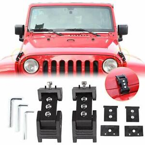 Hood Catch Latches Kit Stainless Steel Lock For Jeep Wrangler Jk Jku 2007 17