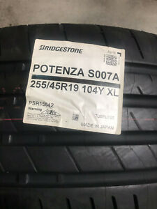 2 New 255 45 19 Bridgestone Potenza S007a Tires
