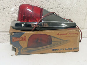 Vintage Yankee Metal Products Streamlined Marker Lamp Light Nos With Box No 77