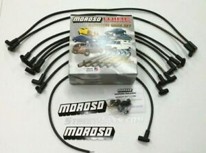 Moroso Sbc Chevy 305 350 Spark Plug Wires Hei 90 Degree Boots Over Valve Cover