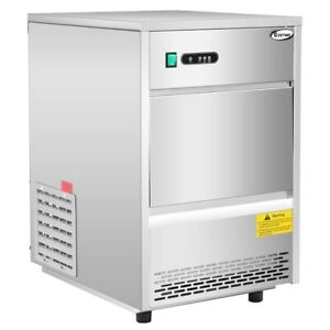 Commercial Automatic Ice Maker Machine 70lbs 24h Stainless Plastic Freestanding