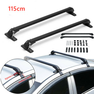 Universal Top Luggage Roof Rack Cross Bar Carrier Adjustable Window Frame 115cm