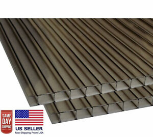 24 X 72 x8mm 5 16 Polycarbonate Bronze Twinwall Sheets pack Of 2