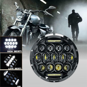 7 Inch Motorcycle Led Projector Headlight Halo For Harley Touring Cafe Racer