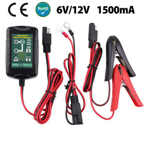 12v 6v For Battery Charger Maintainer Auto Trickle Boat Marine Motorcycle Junior