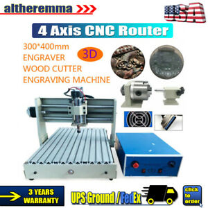 Cnc 3040 Router Engraver 400w 4 Axis 3d Cutting Milling Carving Drilling Machine