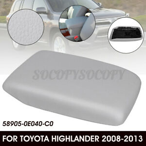 Auto Center Console Armrest Lid Cover For Toyota Highlander 2008 13 Pu Leather