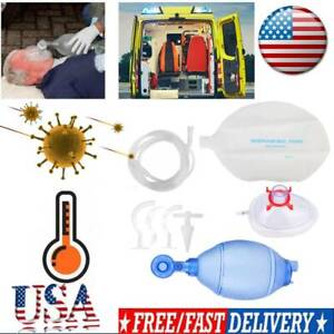 Manual Resuscitator Silicone Adult child Ambu Bag oxygen Tube Cpr First Aid Kit1