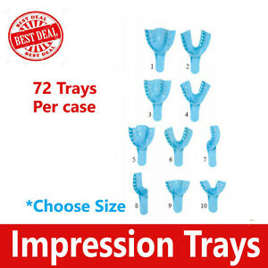 Dental Impression Trays Perforated Plastic Autoclave choose Size 100 Trays bx
