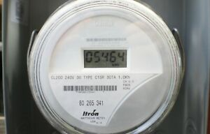 Itron Centron Lcd Watthour Electric Meter Md C1sr Cl200 240v 3w Fm2s 9 Ship