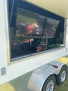 Custom Concession tailgating enclosed Trailer With Restroom