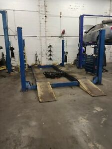 Atlas Vehicle Lift Alignment Rack With 2 Jacks completed