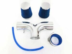 Dual Blue For 2001 2004 Chevy Corvette C5 5 7l V8 Twin Air Intake Kit Filter
