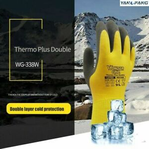 Winter Coldproof Waterproof Work Gloves Double Latex Coated Protection Gloves