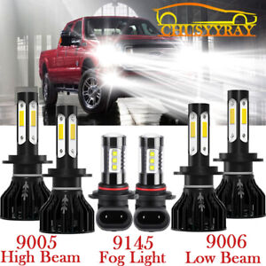 For Ford Expedition Explorer 2002 2003 2004 Headlight Fog Bulbs Led High Low