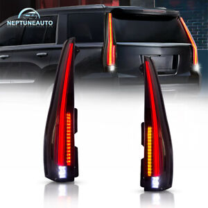 New Smoked Tinted Lamp Led Tail Light For 2007 2014 Cadillac Escalade Esv Luxury