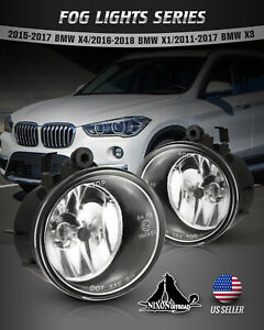 For Bmw X1 X3 X4 Driving Fog Lights Assembly Glass Lens Car Lamps H8 Bulbs Pair