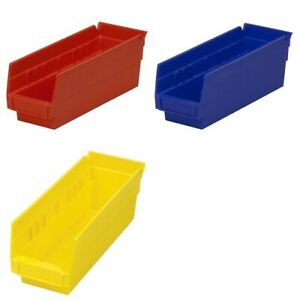 24 Pack 11 5 8 X 4 1 8 X 4 Plastic Inventory Storage Nest Shelf Parts Bins