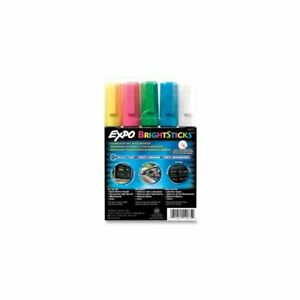 Expo San14075 Set Of 5 Bullet Tip Bright Stick Markers Set