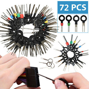 72pcs Wire Terminal Removal Tool Car Electrical Wiring Crimp Connector Pin Kit